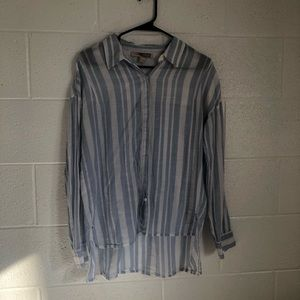 Forever 21 long sleeve striped button up shirt